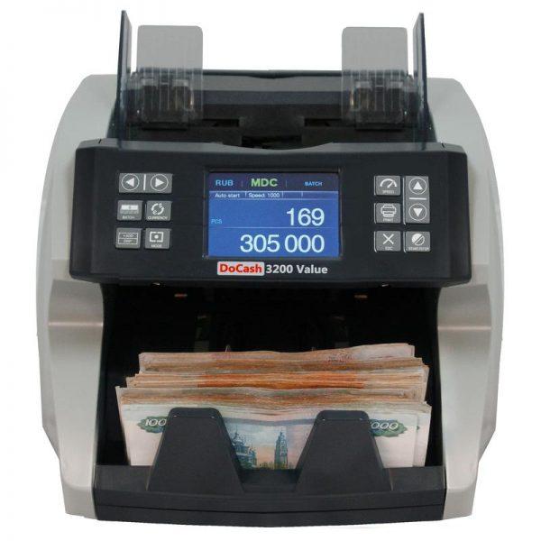 Купить счетчик банкнот DoCash 3200 Value по низкой цене с доставкой по Москве и Московской области. Технические характеристики и отзывы покупателей.